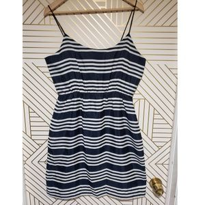 J. Crew Blue and White Stripped dress size 10
